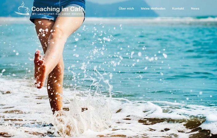 Coaching im Café Website von FRISCHMACHERIN